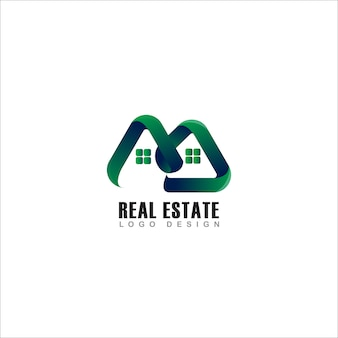 Real estate logo green