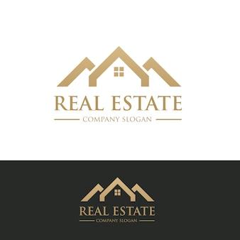 부동산 로고, 자택 요양 로고, 재산, 집 로고, 가정 및 건물, 벡터 로고 템플릿