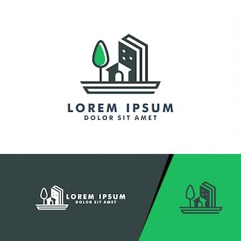 Real estate logo, house, home logo design logotype vector for business construction