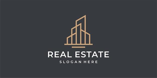 Иллюстрация логотипа недвижимости
