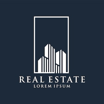 Real estate logo premium vector