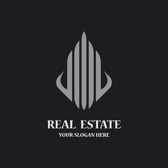 Real estate logo template icon