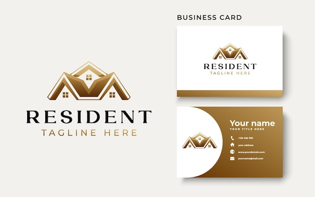 Real estate logo template isolated in white background. vector illustration