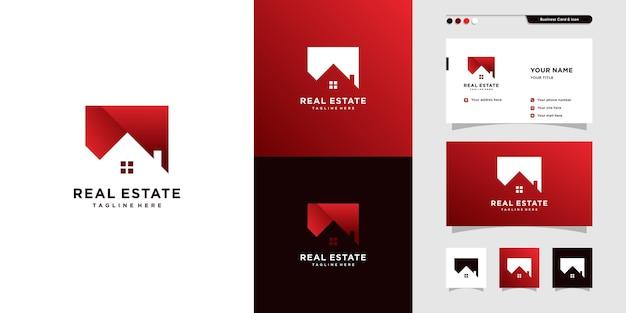Шаблон логотипа недвижимости с креативным и современным стилем линии premium векторы