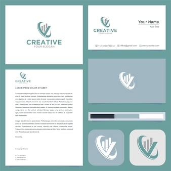 Real estate logo with business card