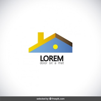 Real estate logo with roof