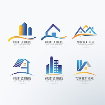 Real estate logos collection