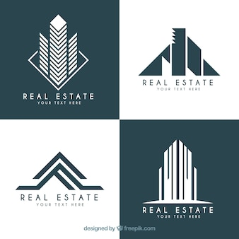 Real estate logotypes in modern design