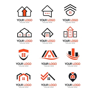 Real estate modern logo collection