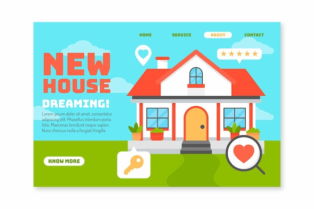 Real estate new house landing page