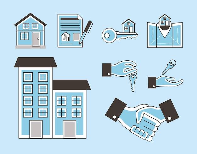 Real estate nine icons