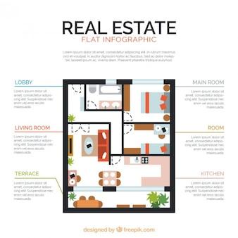 Real estate plan infographic