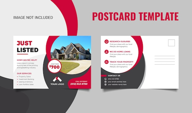 Real estate postcard template for real estate business