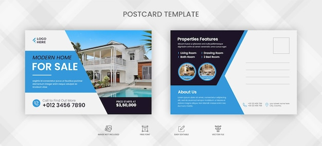 Шаблон открытки с недвижимостью