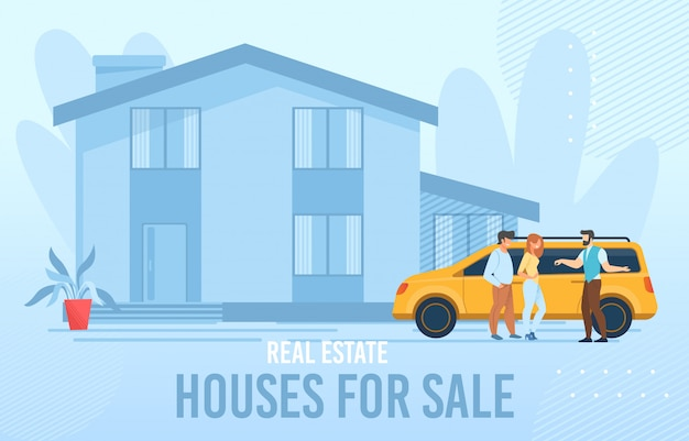 Real estate poster advertising houses for sale