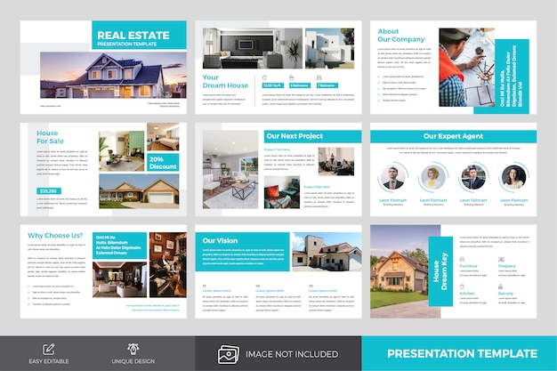 Real estate presentation slides template