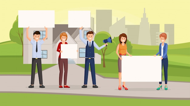 Real estate promotional campaign flat