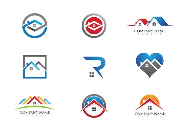 Недвижимость, недвижимость и строительство дизайн логотипа для корпоративного знака бизнеса. векторный логотип
