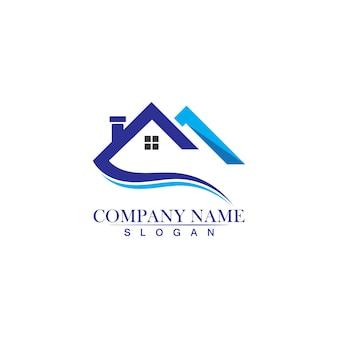Недвижимость, недвижимость и строительство значок дизайн логотипа