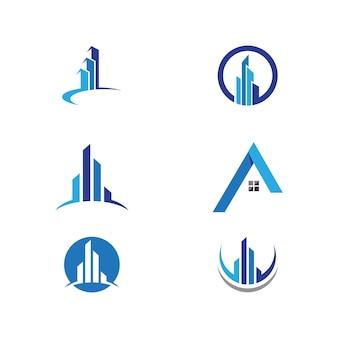 부동산, 부동산 및 건설 로고 디자인