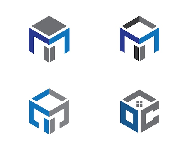 Недвижимость, недвижимость и строительство дизайн логотипа