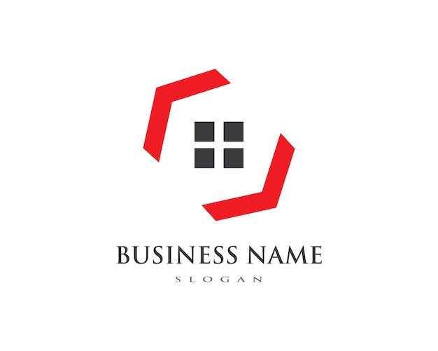 不動産、不動産および建設ロゴ