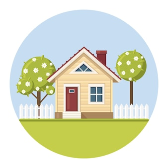 Real estate and property in suburban concept