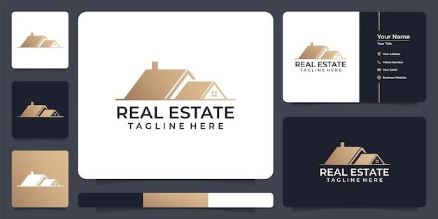 ビジネスのための不動産の屋根のアパートのロゴ