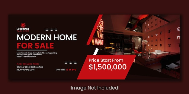 Дизайн шаблона баннера продажи недвижимости