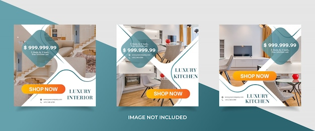 Real estate sale banner template