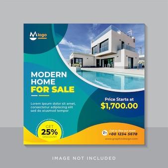 Баннер в социальных сетях или квадратный флаер о продаже недвижимости