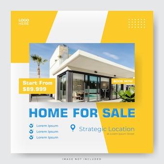 Real estate for sale social media post template