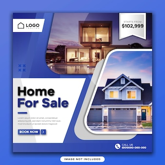 부동산 판매 소셜 미디어 게시물