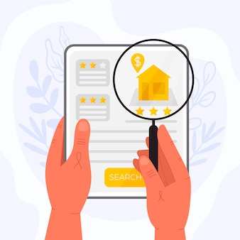 Real estate searching concept