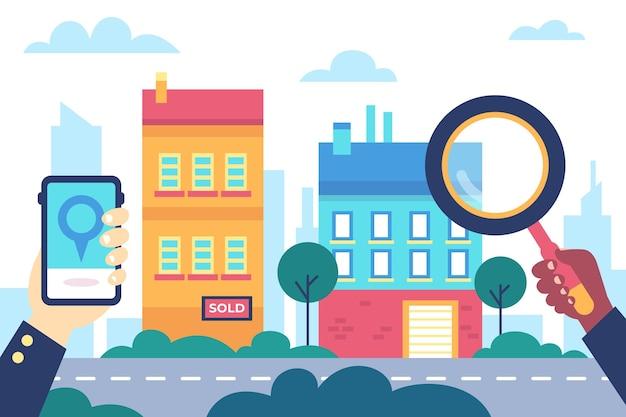 부동산 검색 삽화