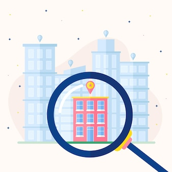 Real estate searching illustrated
