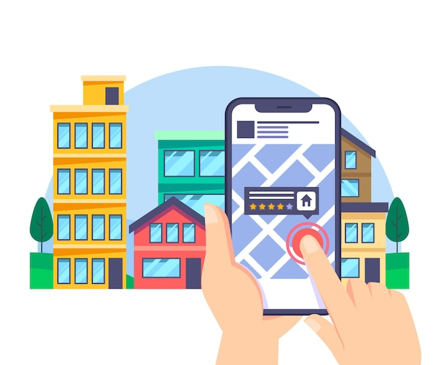 Real estate searching with phone