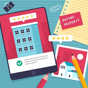 Real estate searching with tablet
