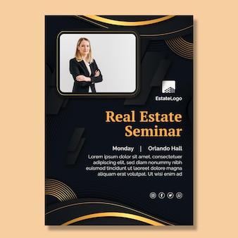 Real estate seminar poster template