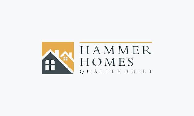 Real estate simple building logo design