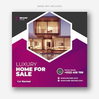 Real estate social media banner