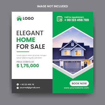 Real estate social media instagram post template