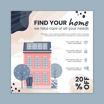 Real estate squared flyer