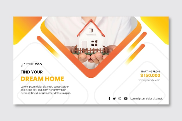 Real estate template banner