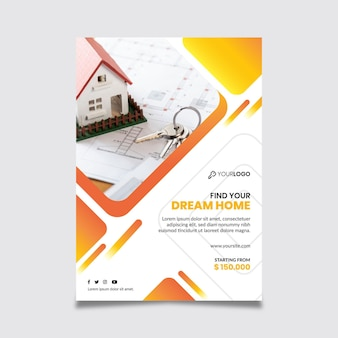 Real estate template poster
