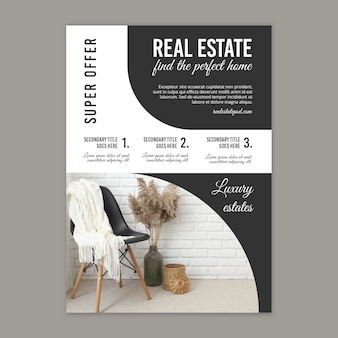 Real estate vertical flyer