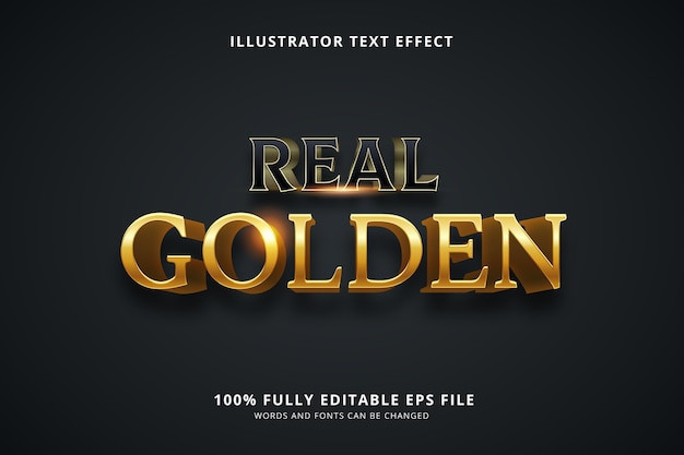 Real golden text effect