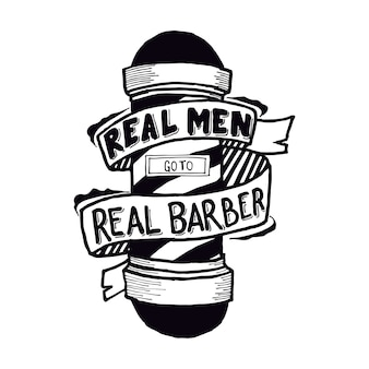 Real men go to real barber