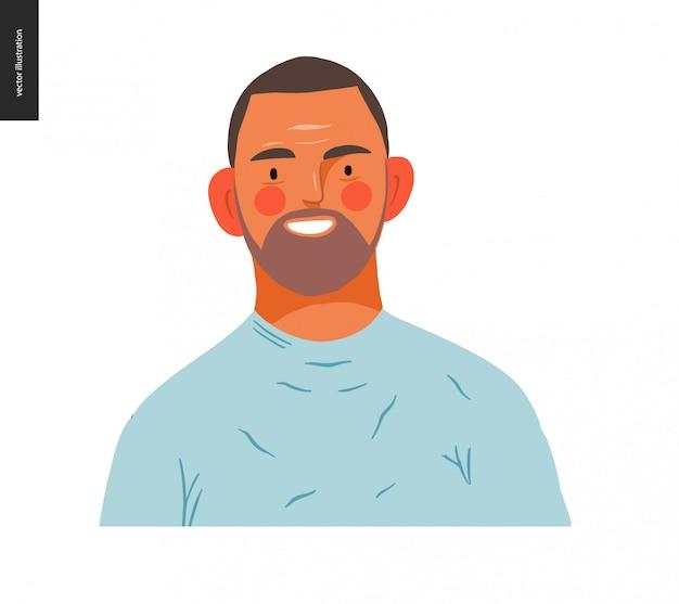 Real people portraits - brunette man