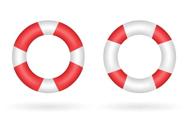 A real red white safety torus vector